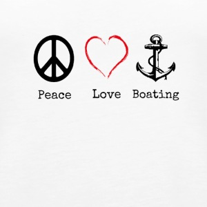 Peace Love and Boating, Funny Boating Gift - Women's Premium Tank Top