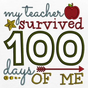 My Teacher Survived 100 Day Of Me - Women's Premium Tank Top