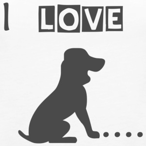 I love dogs - Women's Premium Tank Top