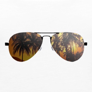 glasses with palm trees - Women's Premium Tank Top
