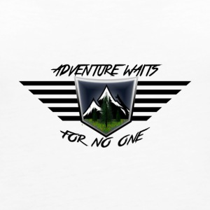 Adventure Waits for No One (Color) - Women's Premium Tank Top