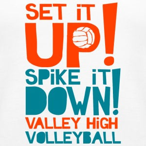 SET IT UP SPIKE IT DOWN VALLEY HIGH VOLLEYBALL - Women's Premium Tank Top