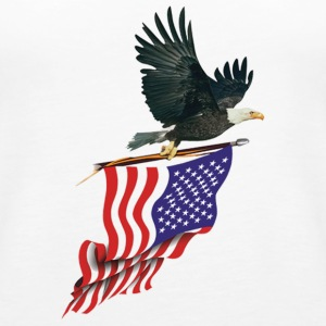 Eagle carrying American Flag - Women's Premium Tank Top