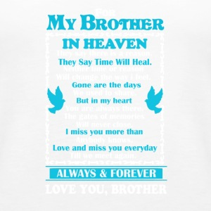 Brother In Heaven Shirt - Women's Premium Tank Top