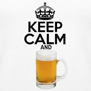 Keep Calm and Beer - Women's Premium Tank Top