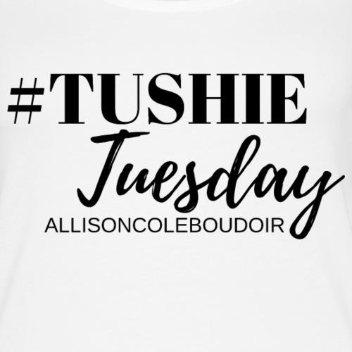Tushie Tuesday - Black Print - Women's Premium Tank Top