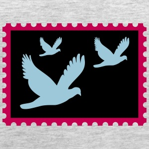flying doves on a stamp - Women's Premium Tank Top