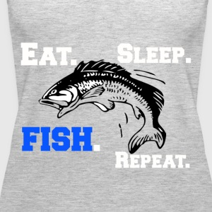 Funny Eat Sleep Fish Repeat Novelty Cool Apparel - Women's Premium Tank Top