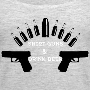 Shoot Guns Drink Beer - Women's Premium Tank Top
