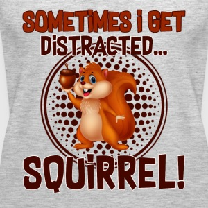 FUNNY DISTRACTED SQUIRREL T SHIRT - Women's Premium Tank Top