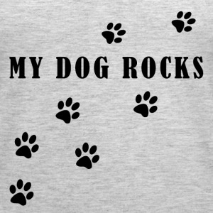 My Dog Rocks Black - Women's Premium Tank Top