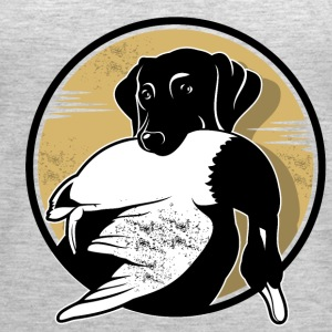 A dog with duck - Women's Premium Tank Top