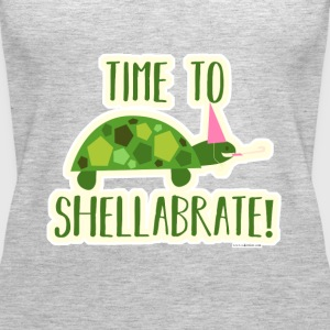 Time to Shellabrate Party Turtle - Women's Premium Tank Top
