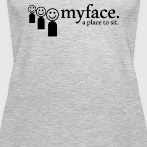 Myface a place to sit - Women's Premium Tank Top