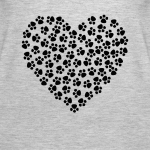 Paw Print Heart - Women's Premium Tank Top