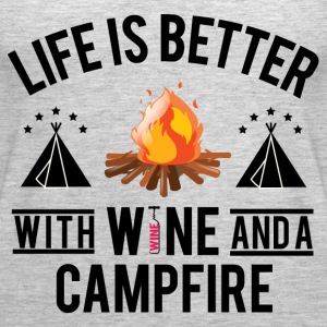 Wine And Campfire - Women's Premium Tank Top