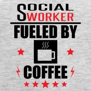 Social Worker Fueled By Coffee - Women's Premium Tank Top