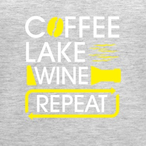 Coffee lake wine repeat - Women's Premium Tank Top