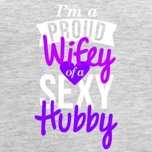 I'm a proud wifey of a sexy hubby - Women's Premium Tank Top