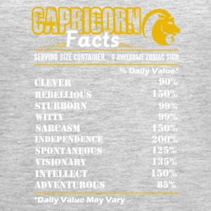 Capricorn Facts Tee Shirt - Women's Premium Tank Top