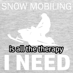 Snow Mobiling is my therapy - Women's Premium Tank Top