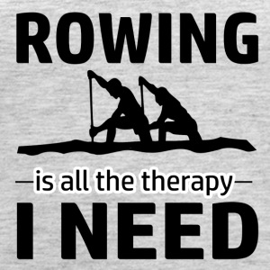 Rowing is my therapy - Women's Premium Tank Top