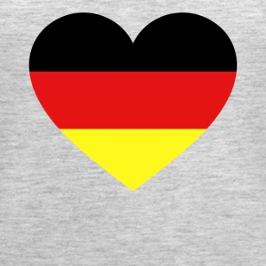 Germany Flag Love Heart Patriotic Symbol - Women's Premium Tank Top