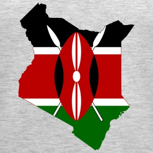 Flag map of Kenya - Women's Premium Tank Top