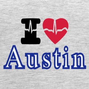 Love Austin Heart - Women's Premium Tank Top