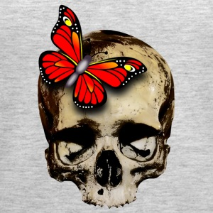 skull with red butterfly - Women's Premium Tank Top