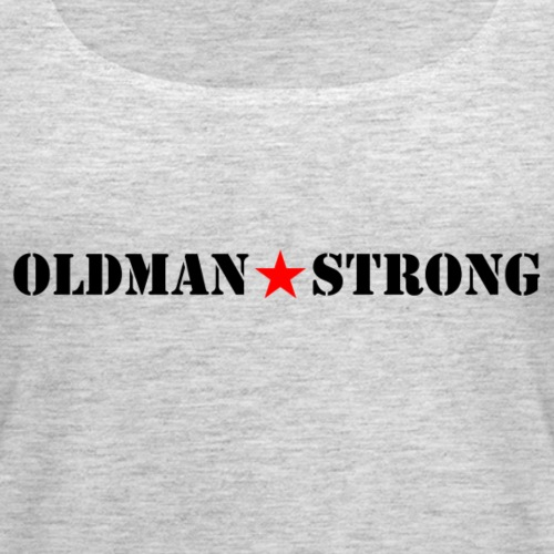 Old Man Strong Star Black Text - Women's Premium Tank Top