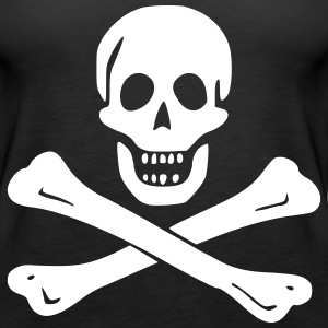 Skull and Crossbones - Women's Premium Tank Top