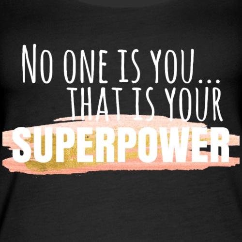 Superpower - White - Women's Premium Tank Top