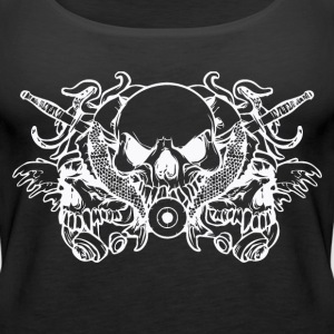 black skull T-shirt - Women's Premium Tank Top