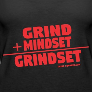 It's A Grindset - Grind + Mindset Grindset/Red - Women's Premium Tank Top