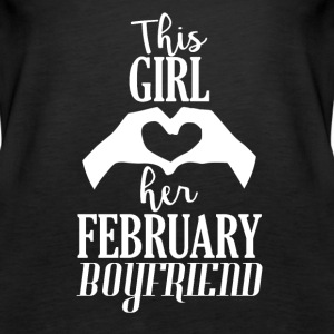 This Girl loves her February Boyfriend - Women's Premium Tank Top