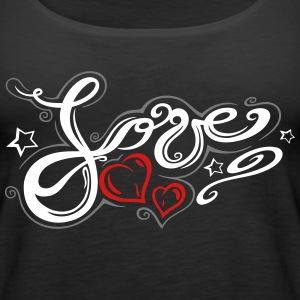 Love logo, Tribal and Tattoo style - Women's Premium Tank Top