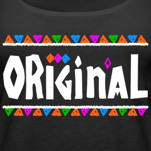 Original - Tribal Design (White Letters) - Women's Premium Tank Top