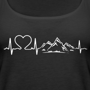 Love Mountains Heartbeat Shirt - Women's Premium Tank Top