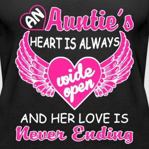 AN AUNTIE'S HEART SHIRT - Women's Premium Tank Top