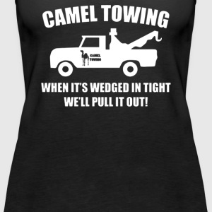 Camel Towing Funny - Women's Premium Tank Top
