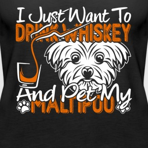 PET MY MALTIPOO DOG SHIRT - Women's Premium Tank Top