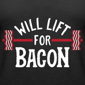 Will Lift For Bacon - Women's Premium Tank Top
