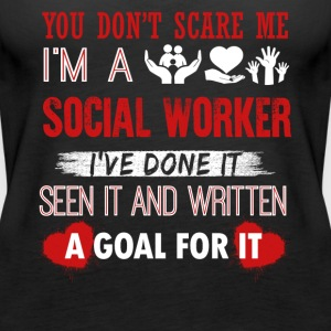 Can't Scare A Social Worker Shirt - Women's Premium Tank Top