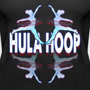 SILHOUETTE OF GIRL WITH HULA HOOP SHIRT - Women's Premium Tank Top