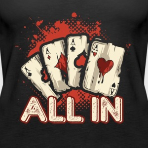 All In Aces Cards Blackjack Poker Shirt - Women's Premium Tank Top