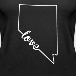 Nevada Love State Outline - Women's Premium Tank Top