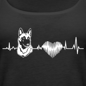 Belgian Malinois Heartbeat Shirt - Women's Premium Tank Top