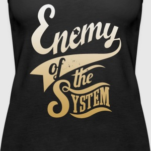 Enemy of The System - Women's Premium Tank Top
