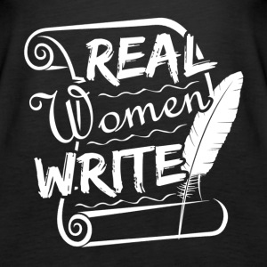 Real Women Write Shirt - Women's Premium Tank Top